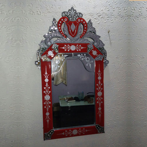 Blood Red Venetian Mirror - VM27