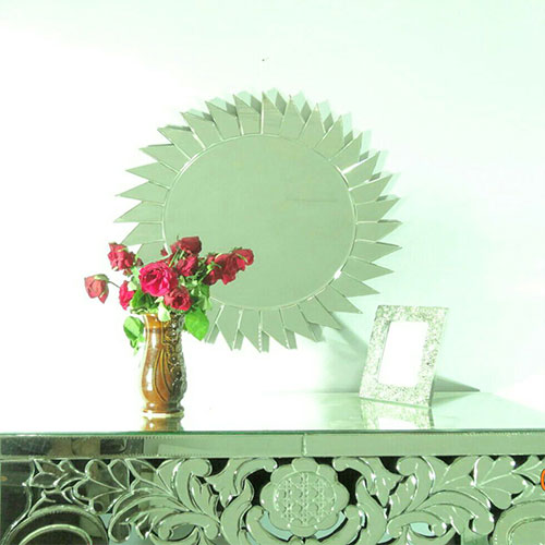 Small Sun Shape Modern Mirror