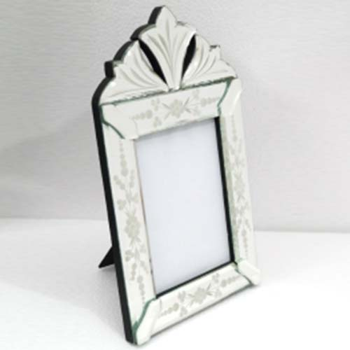 Photo Frame : 3d Mirror Photo Frame, Antique Krack Photo Frame, Blue ...